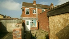 The £7,000 home in Gainsborough, Lincolnshire.