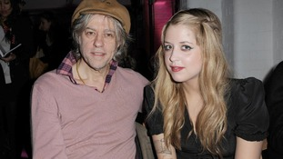 Bob Geldof and his daughter Peaches, who has died aged 25.