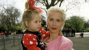 Peaches as a young girl with her mother Paula Yates in 1993.
