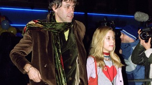 Attending a premiere with her dad Bob Geldof in 2000.