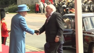 The Queen and the Irish President Higgins