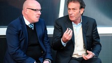McDermott and Cellino chat before the Watford game