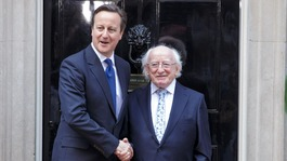 Irish President meets PM on day two of historic visit