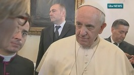 Pope calls human trafficking 'a crime against humanity'