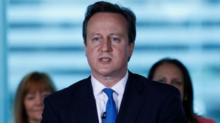 David Cameron, speaking in Manchester, today