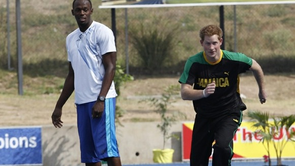 Prince Harry Usain Bolt