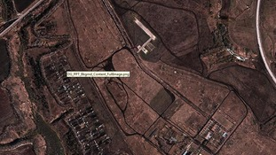 A satellite image of Belgorod before current military buildup (7 March 2014).
