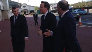 David Jones and Andrew RT Davies with David Cameron