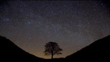 Dark skies over Northumberland