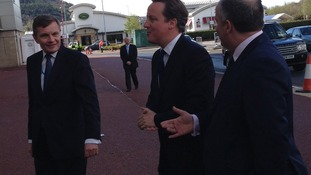 David Jones and Andrew RT Davies with David Cameron