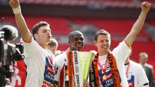 Luton Town lifted the Johnstone's Paint Trophy in 2009.