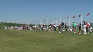 Wales Open driving range