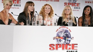 The Spice Girls promote their third concert tour as Victoria Beckham sports the blonde 'Pob' (Posh bob) in June 2007.