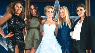 Victoria Beckham and her fellow Spice Girls launch the short-lived musical Viva Forever