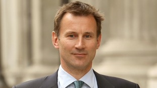 Jeremy Hunt arriving at the Leveson Inquiry
