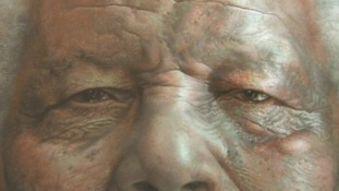 Wiltshire artist creates new portrait of Mandela