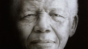 Wiltshire artist describes portrait of Mandela