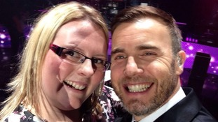 Claire Douglas selfie with Gary Barlow