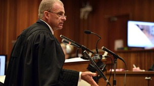 "Prosecutor Gerrie Nel accuses Pistorius of a ""concocted version"" of events."