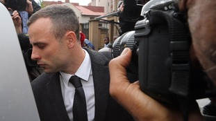 Pistorius appeared drained as he left court.