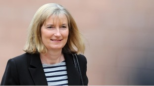 MP Sarah Wollaston outside Preston Crown Court during Nigel Evans' trial.