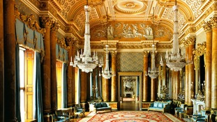 The Blue Drawing Room at Buckingham Palace as it features in the stamp set