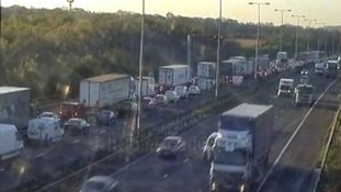 The delays on the southbound carriageway