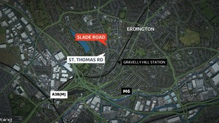 The man was found in Slade Road, Erdington