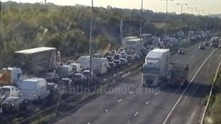 The delays on the southbound carriageway this morning