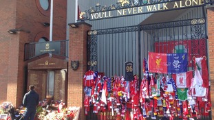 Hillsborough Memorial at Anfield