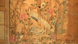 Rare Chinese wallpaper uncovered at Woburn Abbey