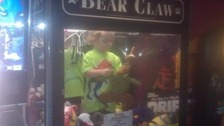 Missing toddler 'found inside arcade claw game'