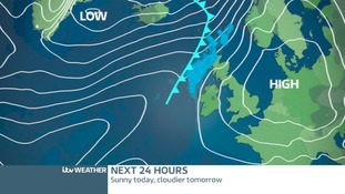 High Pressure moving to the east