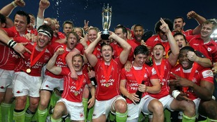 London Welsh celebrate Championship victory