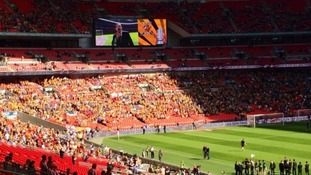 Hull fans in Wembley for the semi-final against Sheffield United
