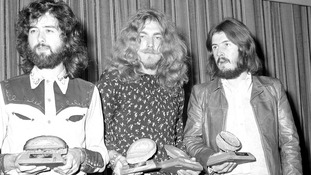 Jimmy Page, Robert Plant and John Bonham in 1970