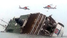Search for survivors after South Korean ferry capsizes