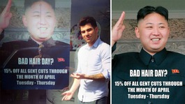 North Korean officials visit hair salon over Kim Jong-un advert