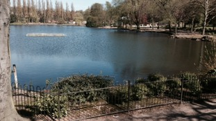 The lake at Walsall Arboretum
