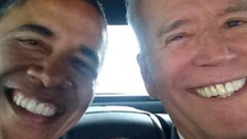 Joe Biden joins selfie craze with photo of him & Obama