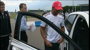 Former F1 World Champion Lewis Hamilton at Silverstone