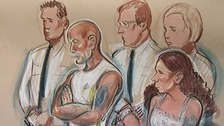 The Philpotts, flanked by bodyguards, appeared in court.