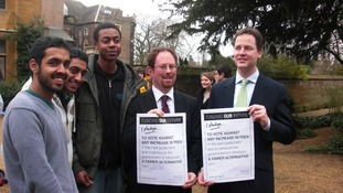 Nick Clegg with NUS tuition fees pledge