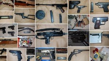 Thirty firearms seized in 'one of biggest ever gun hauls'