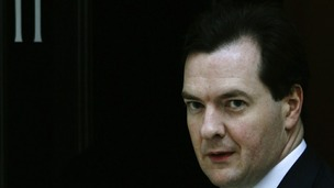 Chancellor George Osborne at 11 Downing Street.