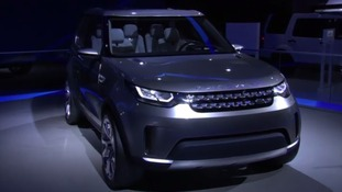 The Discover Vision Concept SUV was unveiled by JLR at the New York Auto Show