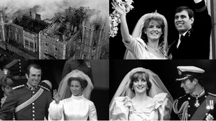 Three Royal marriages broke down in 1992, and there was a huge blaze at Windsor Castle