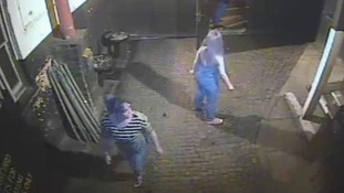 The police are trying to trace a white woman who was wearing a stripy top on the night of the attack