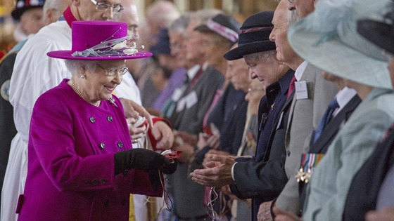 "The Queen commemorates Maundy by offering ""alms"" to senior citizens"