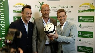 Alan Shearer launches his foundation with the help of Ant and Dec